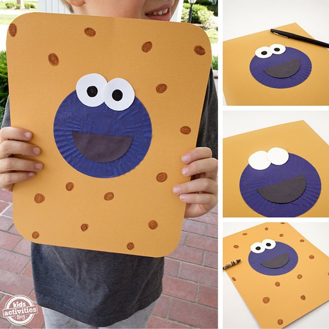 Cupcake Liner Cookie Monster
