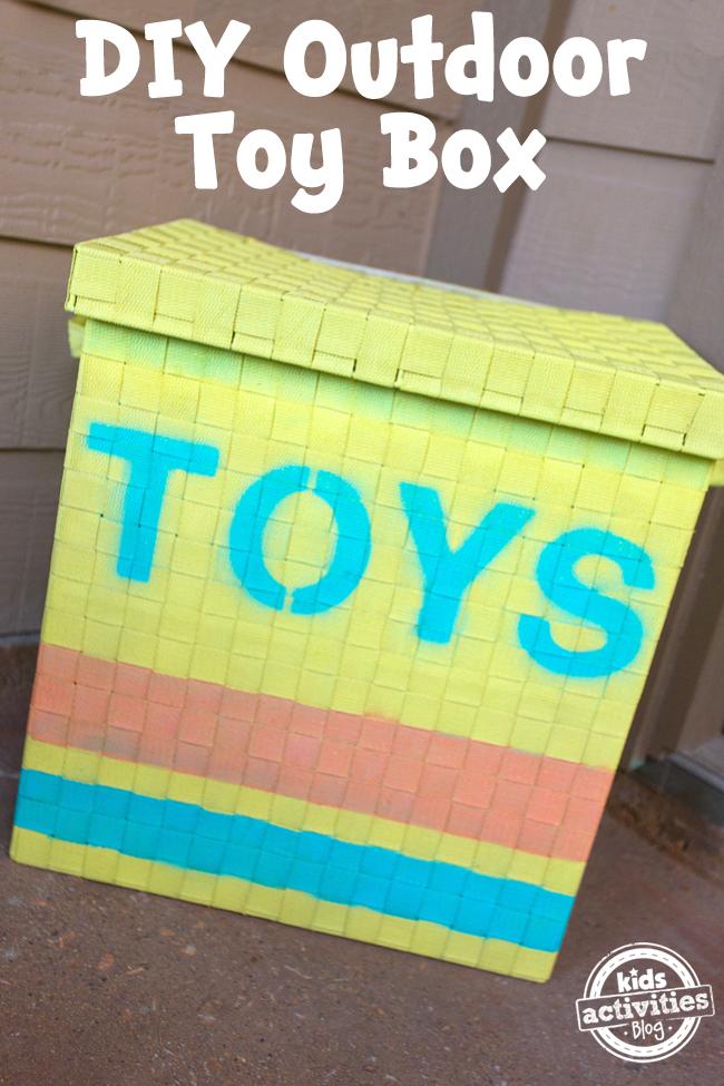 DIY Outdoor Toy Box
