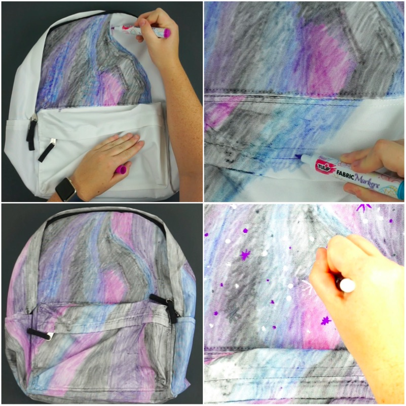 Galaxy Backpack Collage
