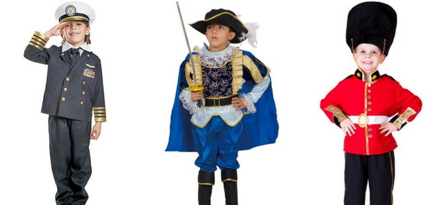 Halloween Costumes for Boys - Admiral, Musketeer, Royal Guard