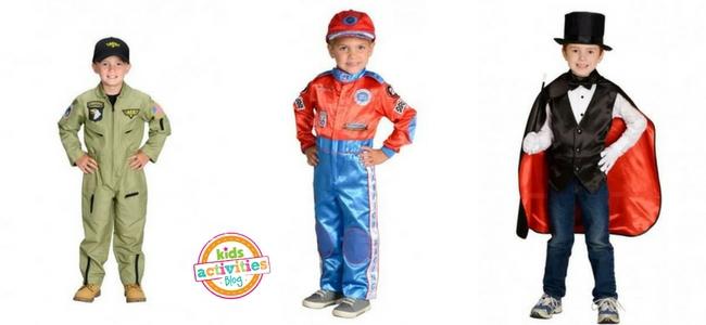 Halloween Costumes for Boys - Pilot, Racecar Driver, Magician