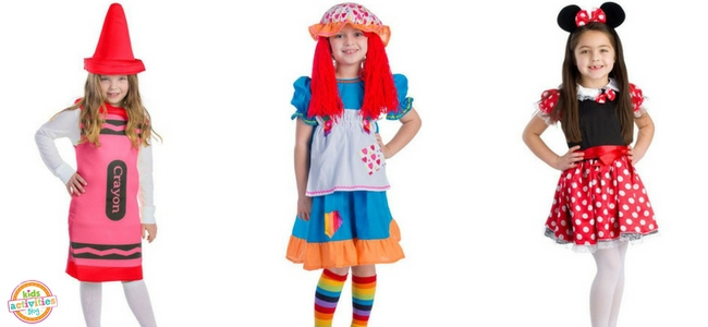 Halloween Costumes for Girls - Crayon, Rag Doll, Minnie Mouse