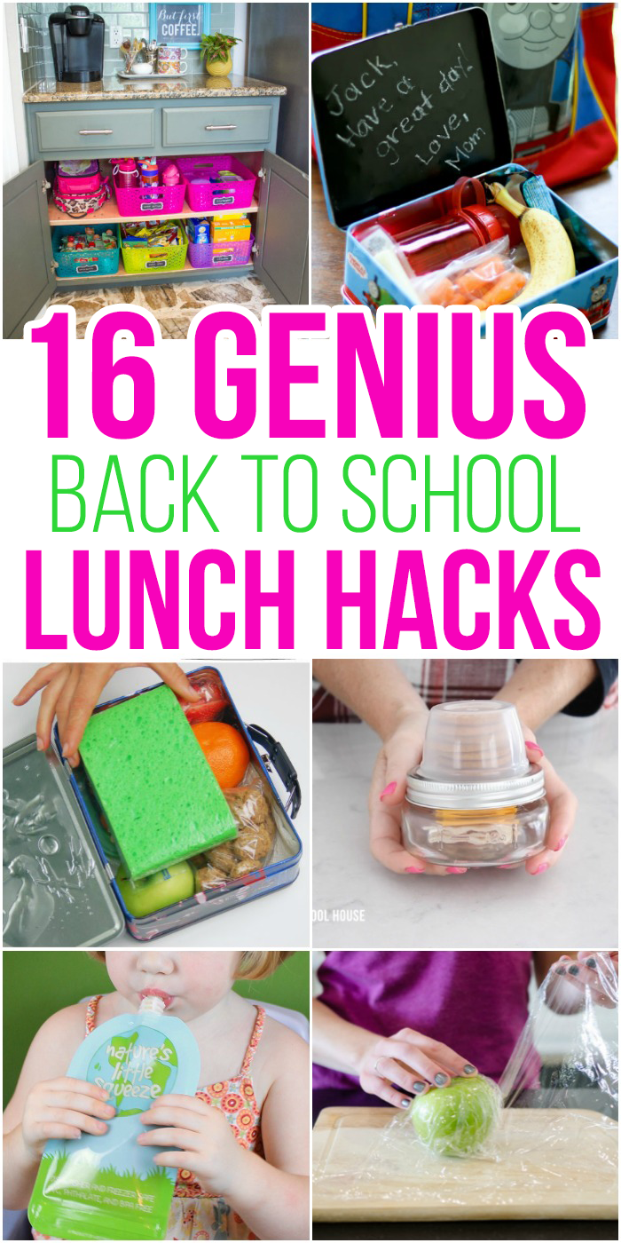 16 Smart School Lunch Hacks