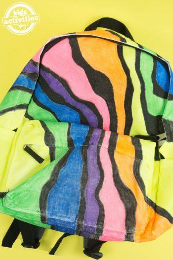 Neon Zebra Backpack