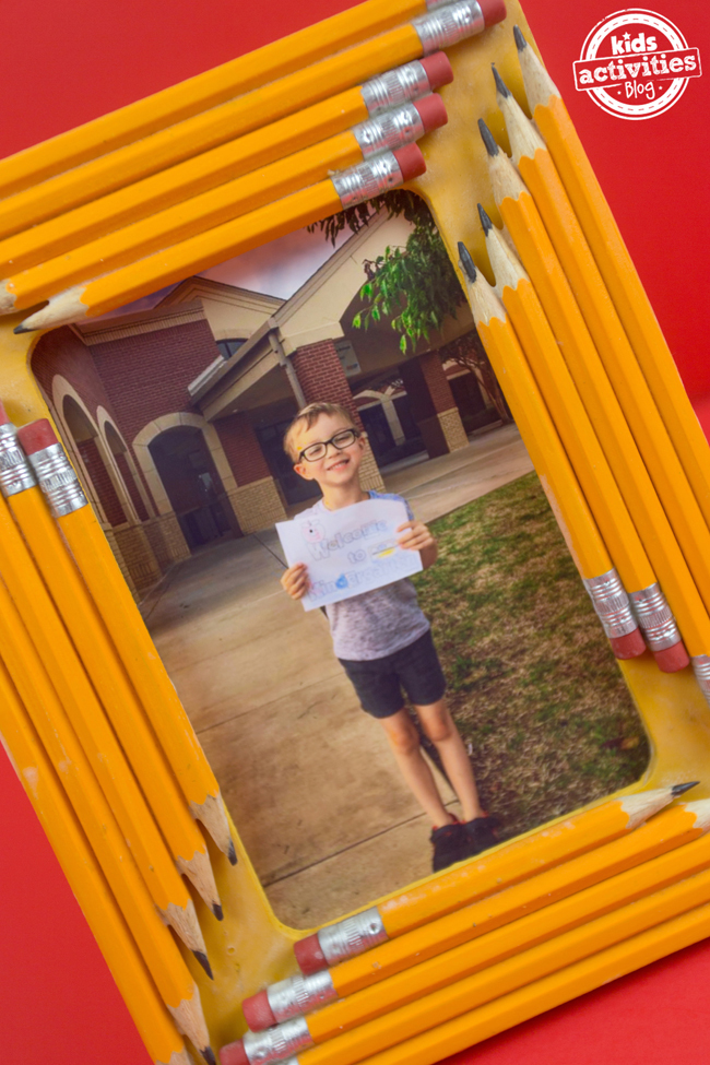 pencil school photo frame