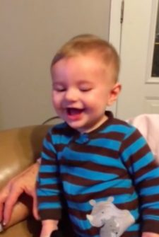 Sweet Baby Has The 'Goofy' Giggles, And It's Adorable!