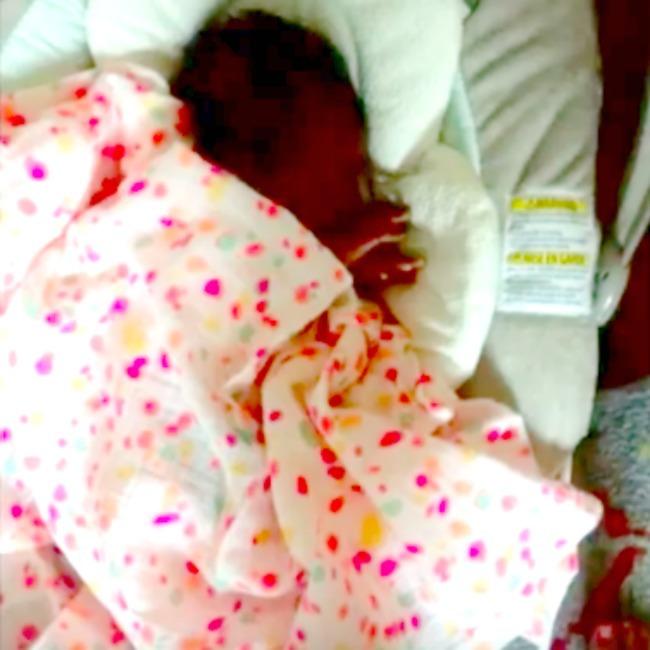 screenshot of new baby
