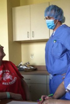 Doctor Comes In During Chemotherapy, But When He Removes His Mask, The Patient Starts To Cry