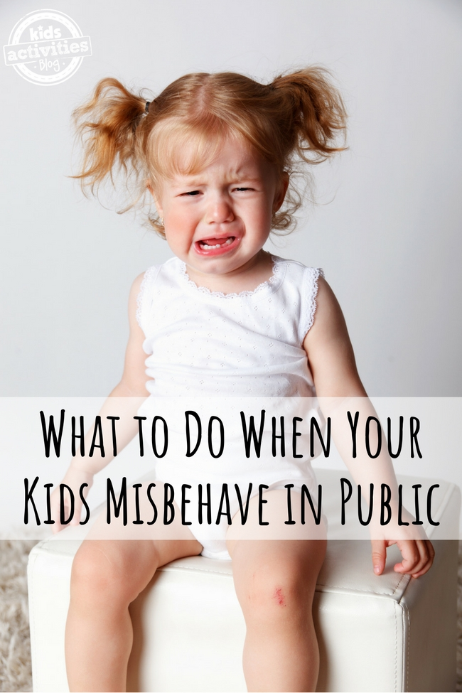 What to Do When Your Kids Misbehave in Public