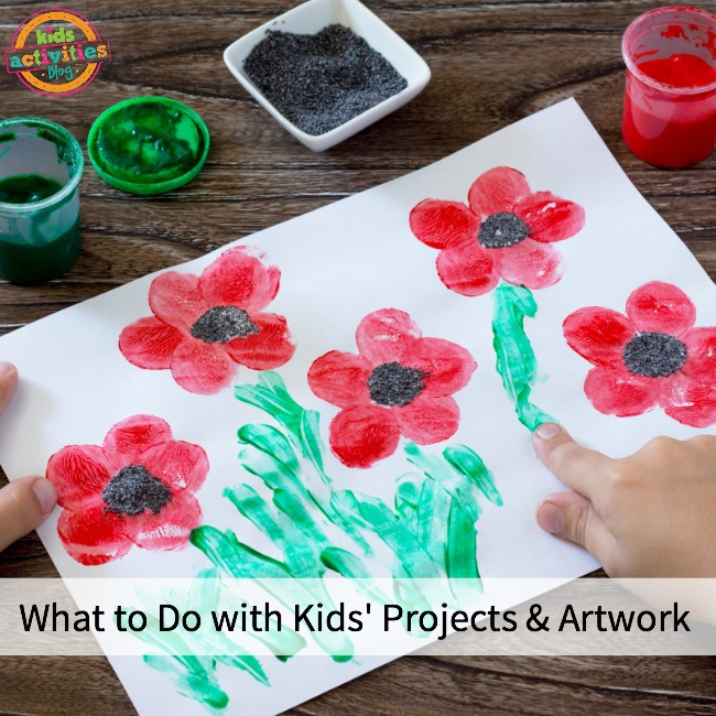 What to Do with Kids' Projects and Artwork