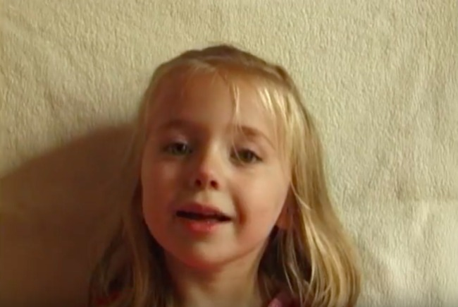 screenshot of daughter growing up video where she is in grade school