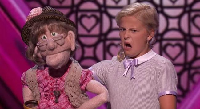 Darci Lynne appears on America's Got Talent