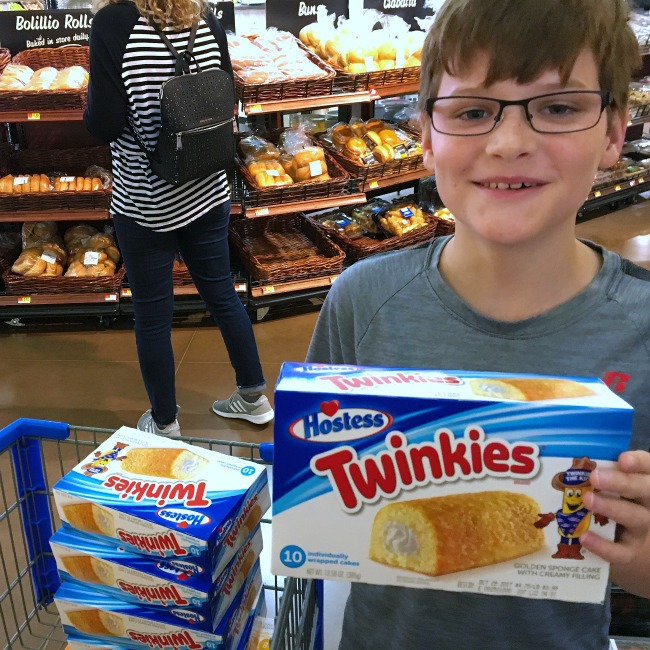 rhett hiding twinkies at Walmart
