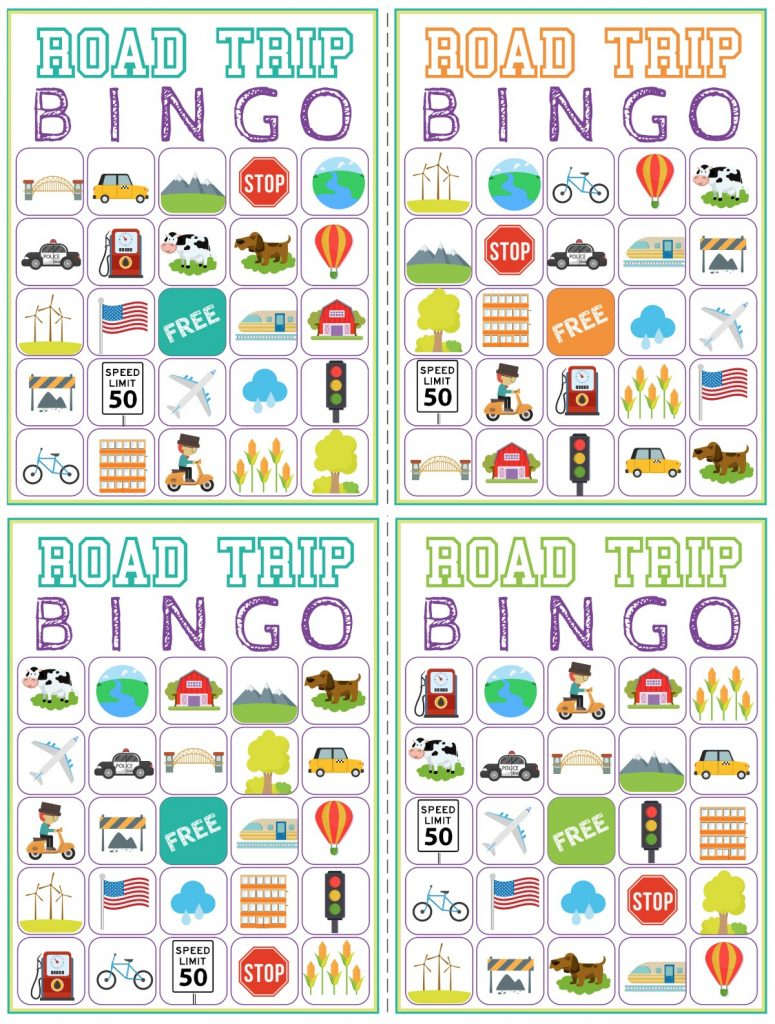 graphic about Travel Bingo Printable named Street Holiday Bingo Printable Recreation - Cost-free Down load of 6 Drive