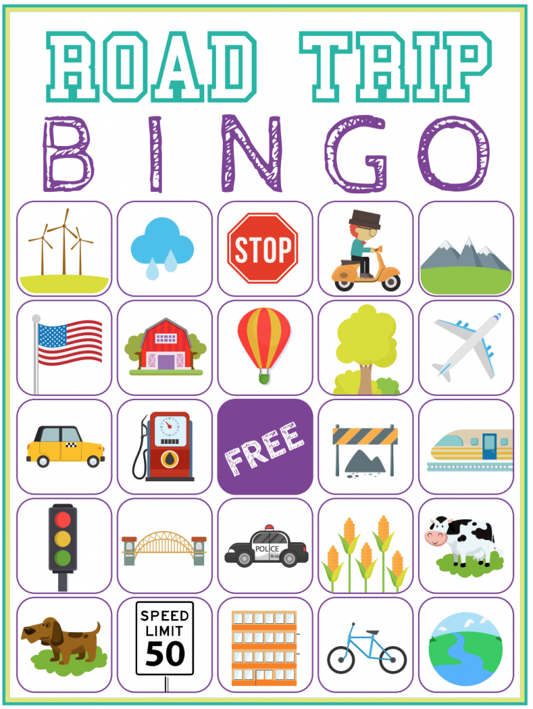image relating to Printable Bingo Chips identified as Street Vacation Bingo Printable Recreation - Absolutely free Down load of 6 Push
