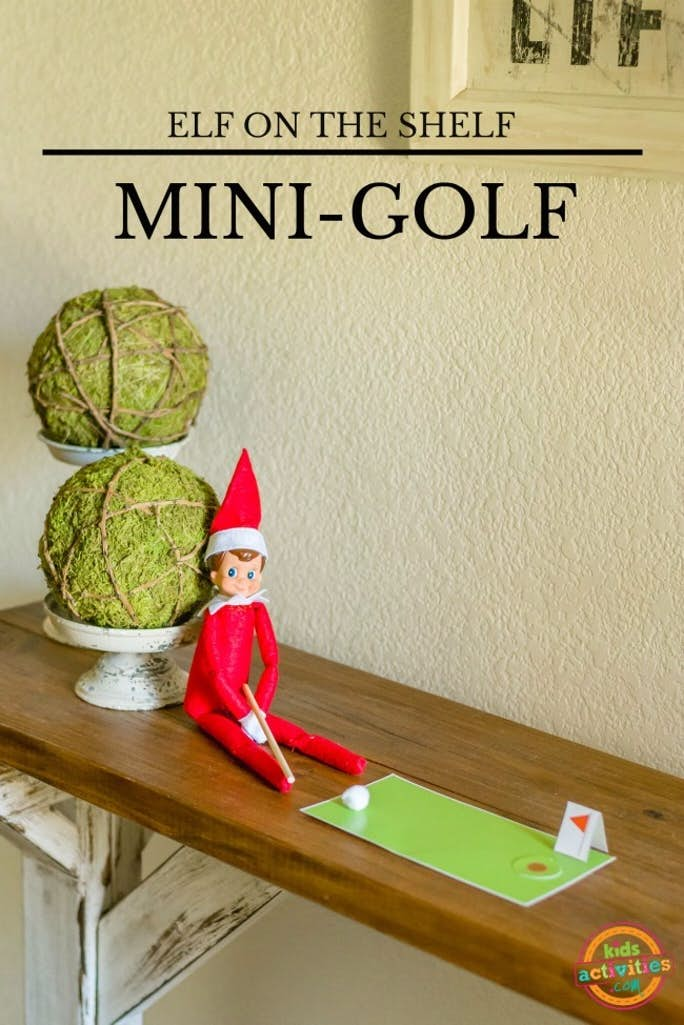 Elf on the Shelf Mini Golf