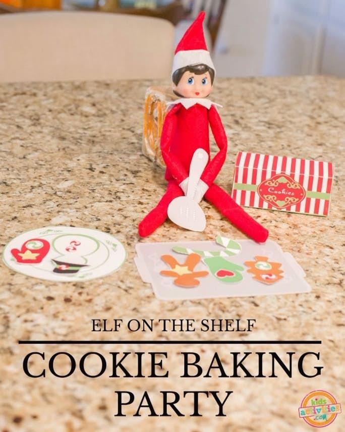 Elfe sur l'étagère Cookie Baking Party