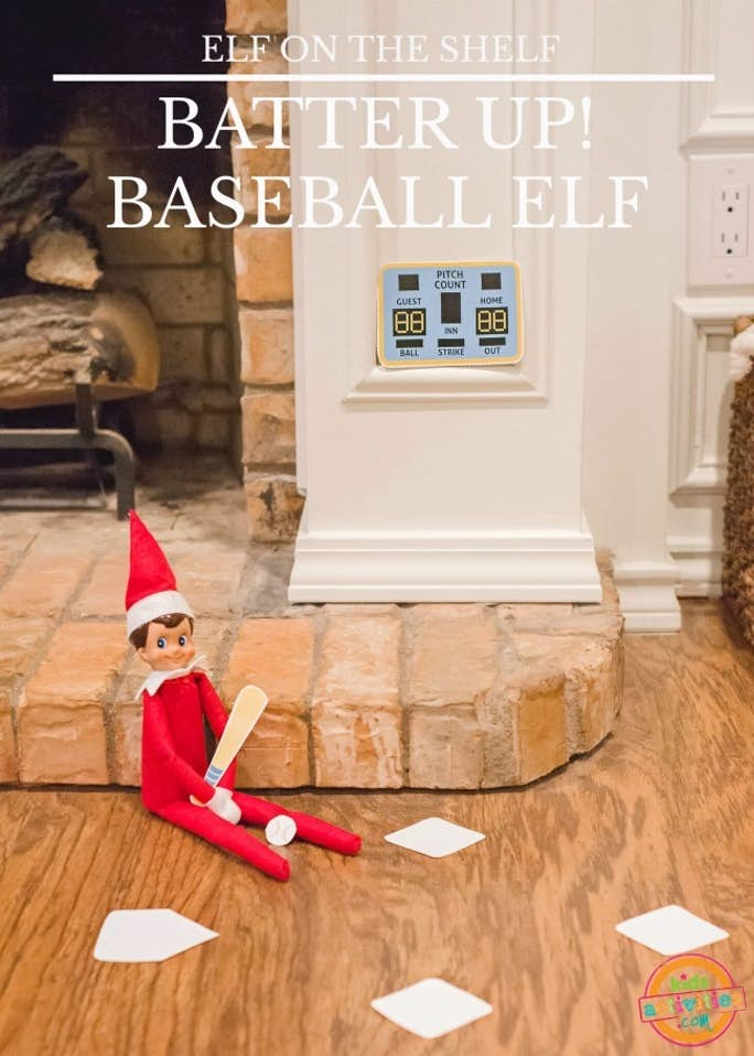 Elf on the Shelf Batter Up Baseball Elf