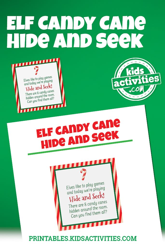 Elf Candy Cane Hide and Seek