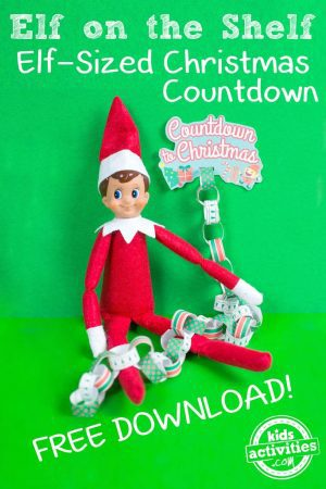 Elf on the Shelf with Christmas Countdown Chain
