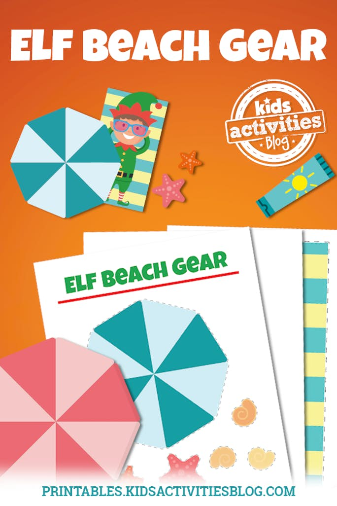 graphic relating to Printable Beach Pictures named Elf upon the Shelf Goes toward the Seaside