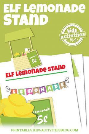 Elf on the Shelf Lemonade Booth