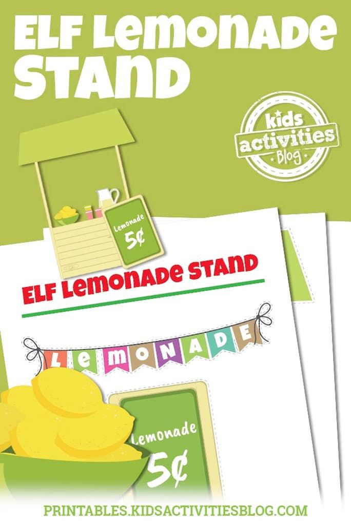 image regarding Lemonade Sign Printable called Elf upon the Shelf Lemonade Booth
