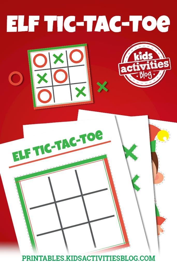 image relating to Free Printable Tic Tac Toe Board titled Elf upon the Shelf Tic Tac Toe