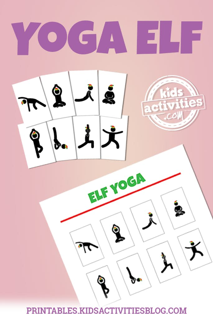 image regarding Printable Yoga Poses for Preschoolers titled Elf upon the Shelf Yoga