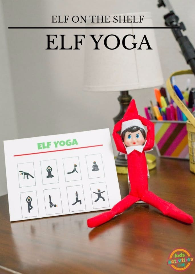 Elf on the Shelf Yoga