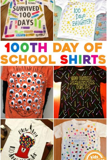 100th Day of School Shirt Ideas for Kids