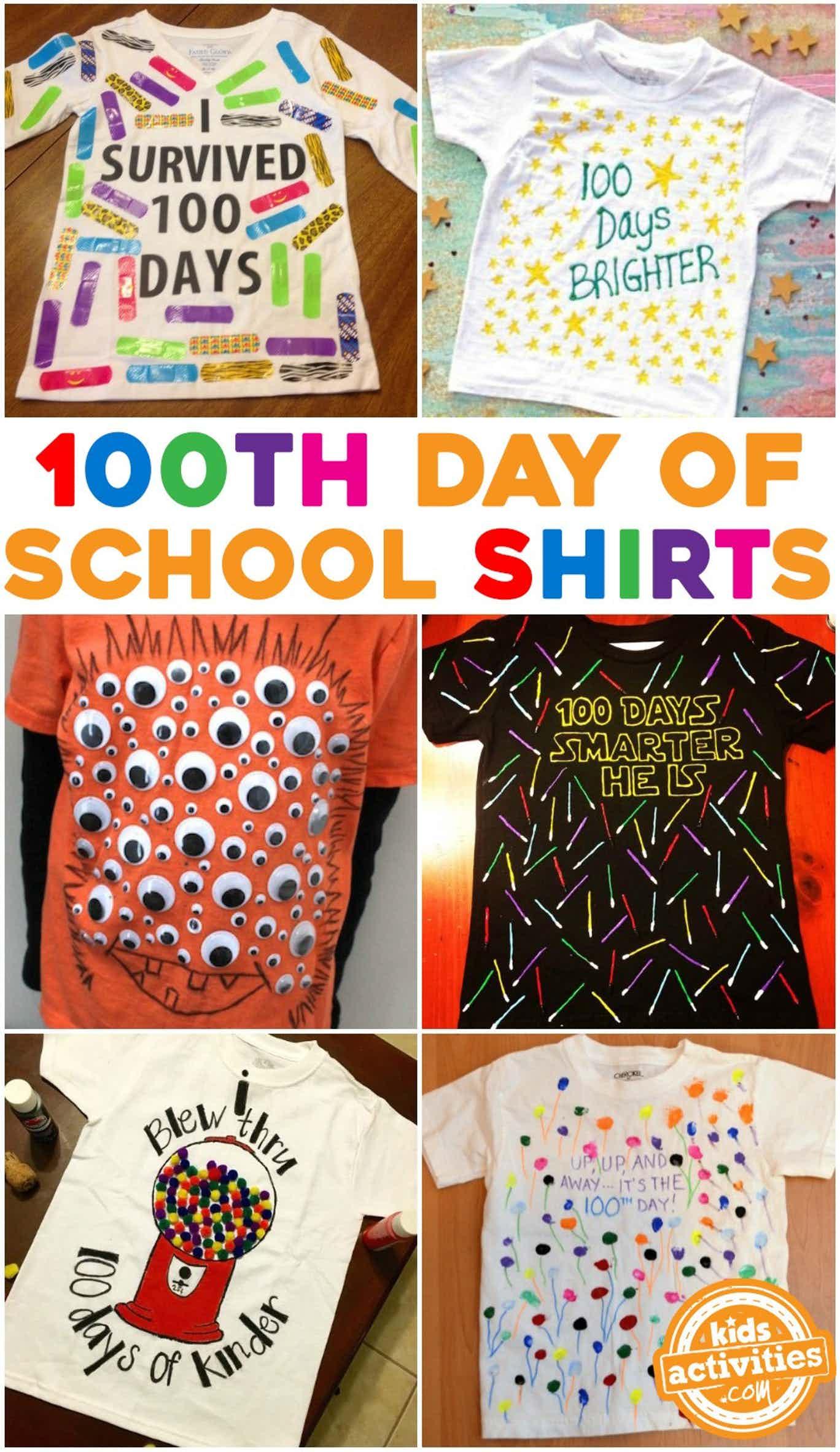 100th day of school shirt ideas