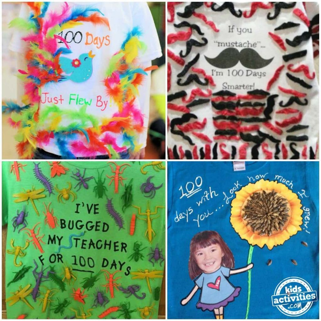 100th Day of School Shirts for Kids to Make