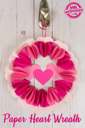 3D Paper Heart Wreath - How to Make