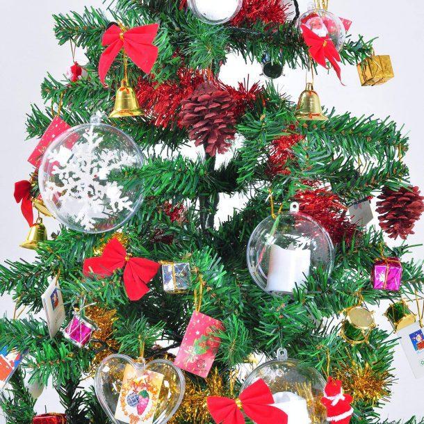Clear Plastic Ball Fill Ornaments