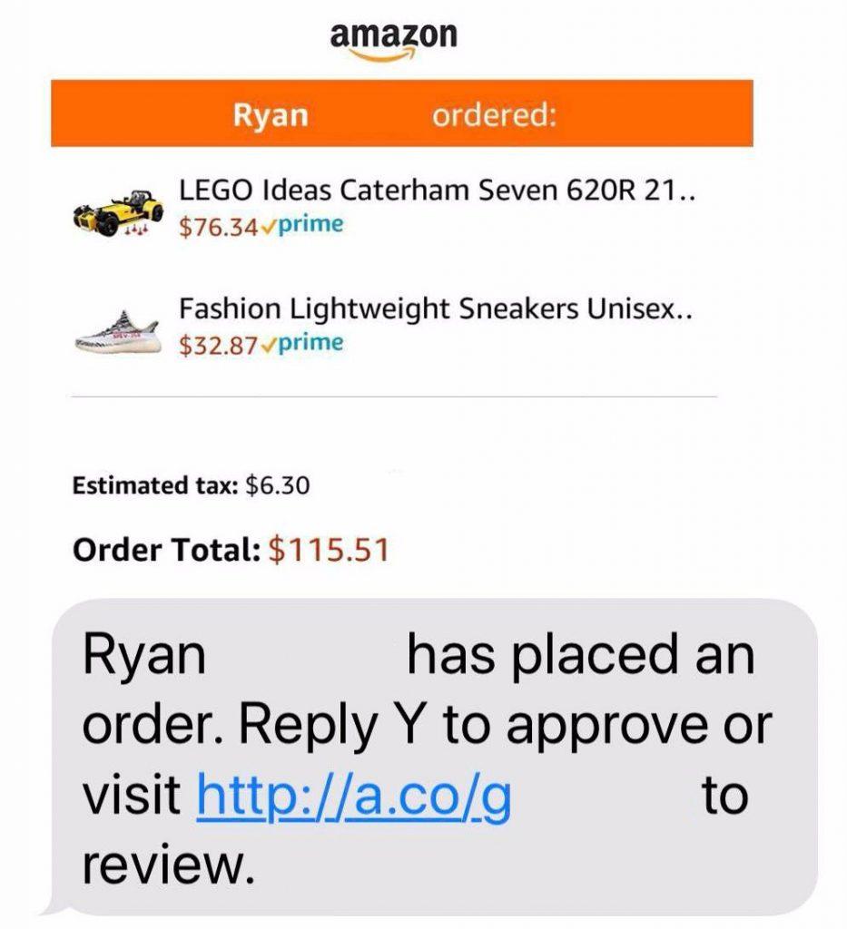 Amazon teen - Ryan order