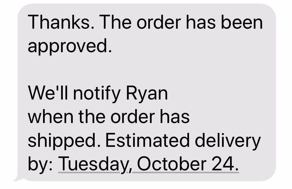 Amazon teen - order approved