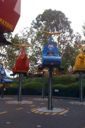 Boys at amusement park