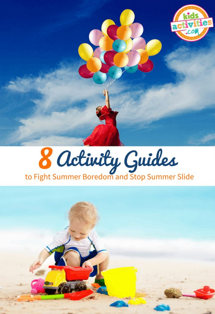 Busy Summer Activity Guides Balloons And Sand Castle Toys