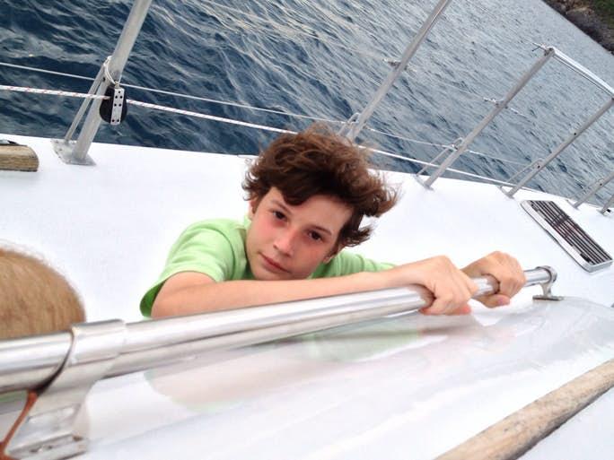 Child sailing