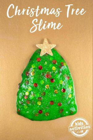 Christmas tree slime - fun gift idea for kids