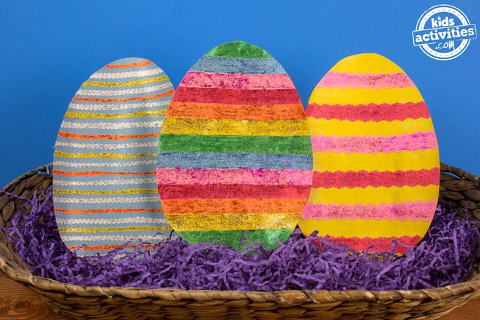 Colorful Easter Eggs Horizontal