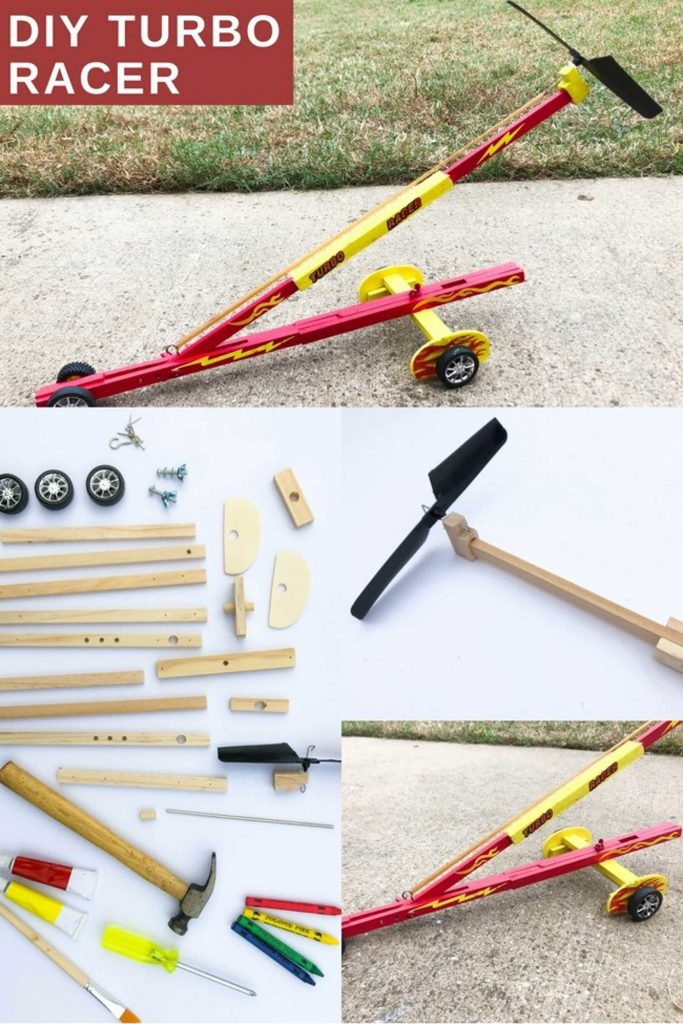 DIY Turbo Racer Collage With Parts