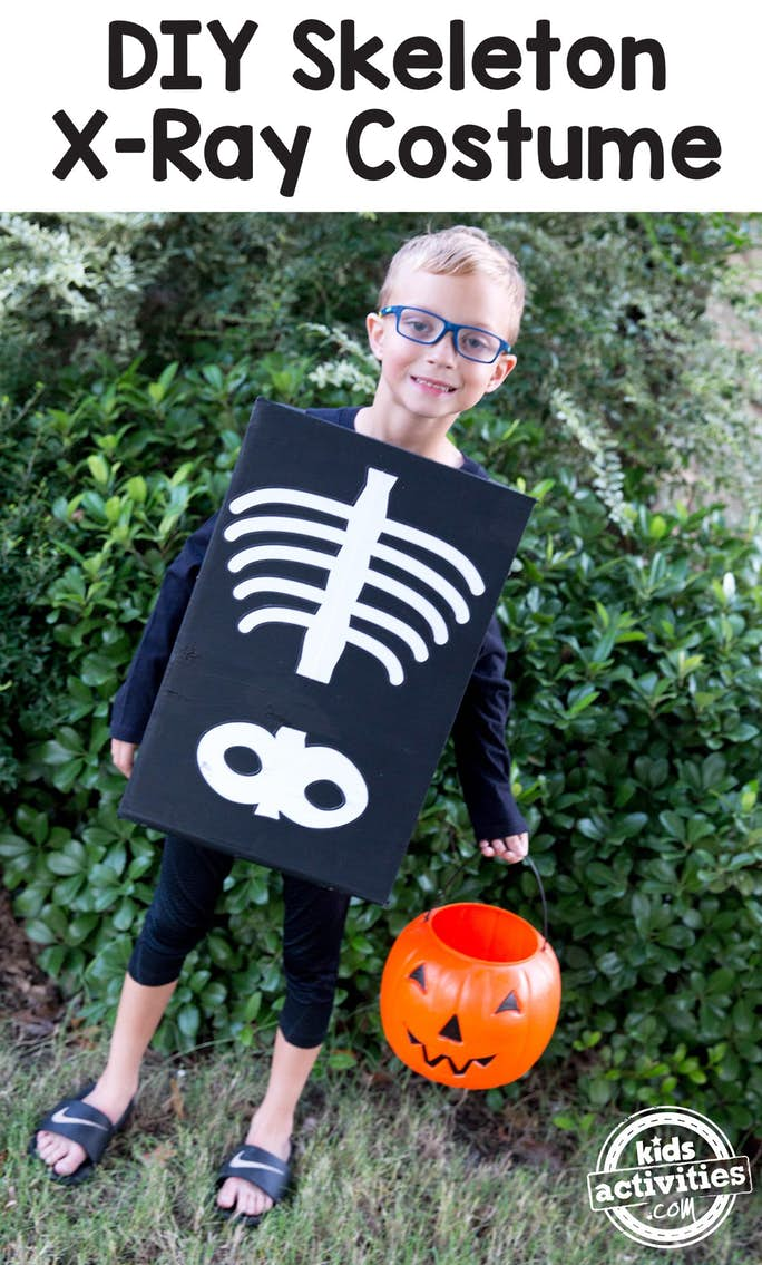 DIY X-Ray Skeleton Costume