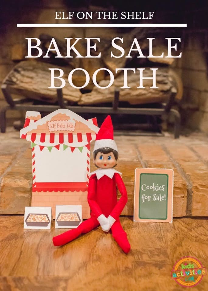 Elf on the Shelf Bake Sale Booth