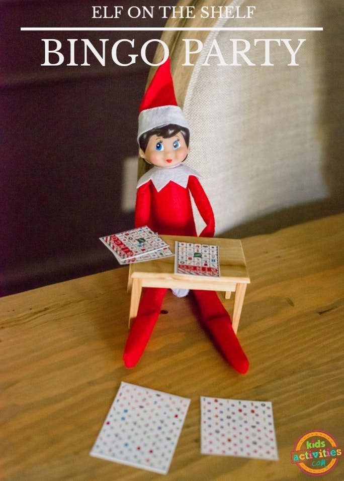 Elf on the Shelf Bingo Party