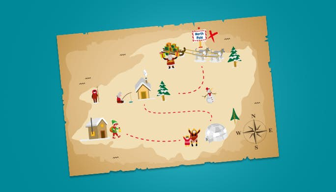 Elf on the Shelf Treasure Map