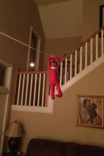 Elf on the Shelf Zipline