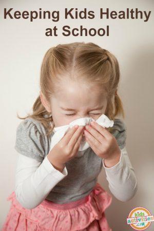 Keeping Kids Healthy At School Girl Sneezing
