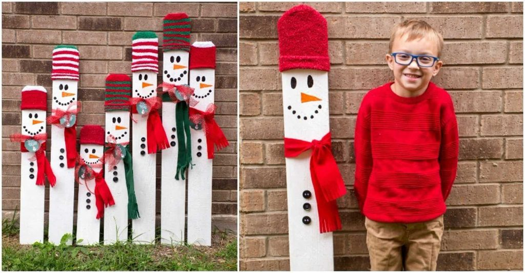 Kid Sized Snowman Collage